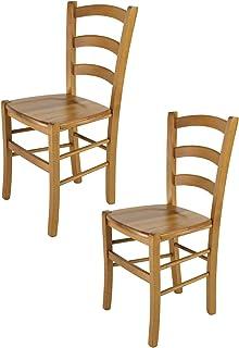 Tommychairs – Set 2 chaises Venice pour Cuisine, Bar et Salle à Manger, Robuste..