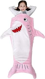 SINOGEM Shark Tail Blanket - Plush Animal Sleeping Bag Blanket Shark Toys for Kids by (Pink)