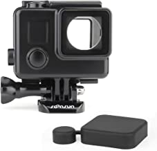 SOONSUN Blackout Standard Housing Case with LCD Touch Backdoor for GoPro Hero 4 3+ 3 Black Silver Action Camera