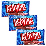 Red Vines Licorice Original Red Twists - 3 Pack Red Vines Licorice Candy Bulk (21 oz Total)