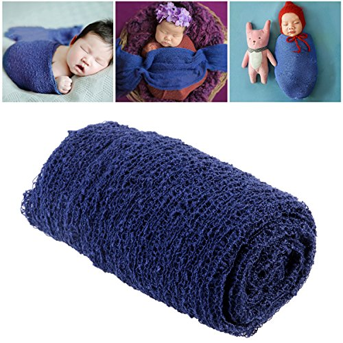 Tinksky Long Ripple Wrap - DIY Newborn Baby Photography Wrap-BAby Photo Props (Navy Blue)