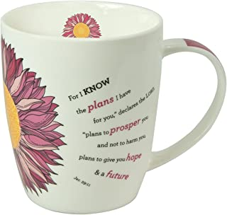 Christian Art Gifts Flower Power Inspirational Mug - Jeremiah 29:11