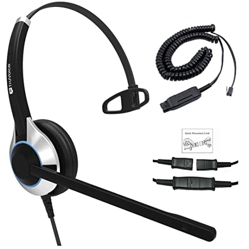 8f38f830233 Deluxe Single Ear Noise Canceling Call Center/Office Headset & HIS Cable  for Avaya IP