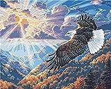 ZUOXUN DIY 5D Diamond Painting Kit Pintura de Diamantes Diamantes de imitación Mosaico Paintings Bordado Manualidades para Decoración de Pared Diamond -Águila 40x50cm