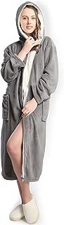 Hooded Women Soft Spa Long Bathrobe,Comfy Full Length Warm Nightdress