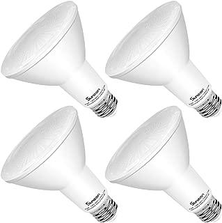 SUNEON 4-Pack Par30 Led Bulbs Long Neck 3000k Soft White Spot Light Dimmable 11w 75w-Equivalent Par30l Flood 40 Degrees 120v E26 with UL