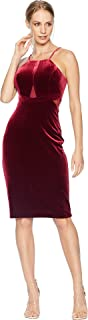 bebe Womens Velvet/Illusion Dress