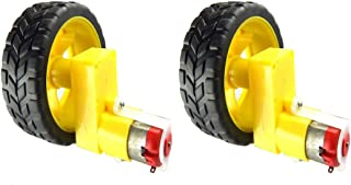 UG LAND INDIA High Power 2 Wheel 2 Shaft Motor (Heavy Load) High Torque Motor Robotics Wheel Set