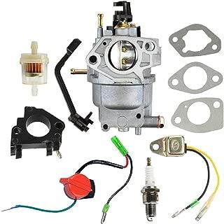 Panari 0J2451 Carburetor + Air Filter Spark Plug for Generac 5000 5500 6000 6500 Watt 389cc Portable Gasoline Generator 5KW 5.5KW 6KW 6.5KW
