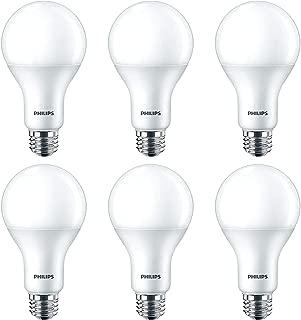 Philips 100 Watt Equivalent A21 LED Dimmable Light Bulb: 1600-Lumen, 3000-Kelvin, Energy Star, Bright White, E26 Base, 6-Pack