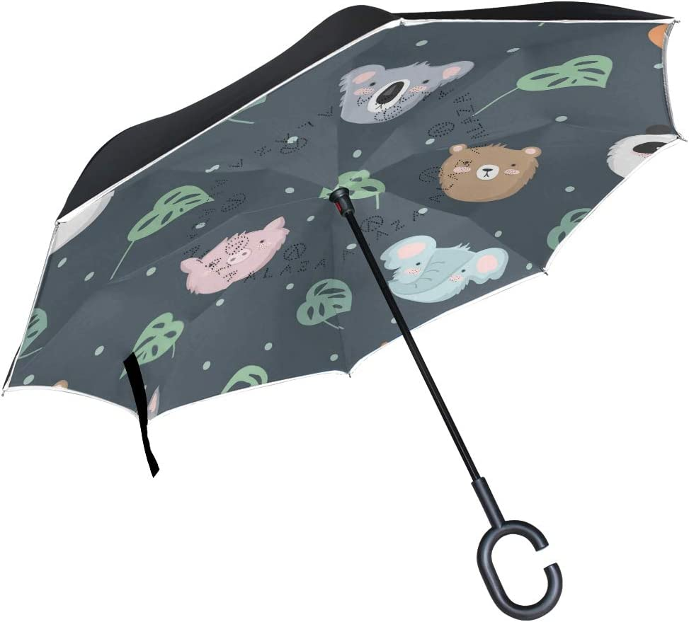 senya Double Layer Inverted Popular popular Umbrella High quality new Handle Koala with C-Shaped
