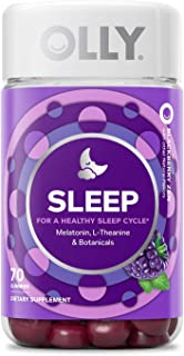 OLLY Sleep Melatonin Gummy, All Natural Flavor and Colors with L Theanine, Chamomile, and Lemon Balm, 3 mg per Serving, 35 Day Supply (70 Count)