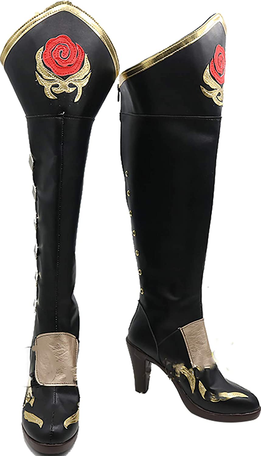 GSFDHDJS Cosplay Boots shoes for Black Butler Grell Sutcliff black