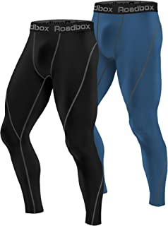 Men's Compression Pants 2 Pack, Workout Warm Dry Cool Sports Leggings Tights Baselayer