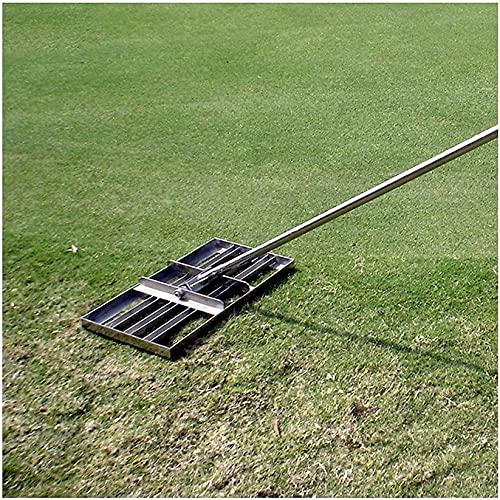 lpzsmd rastrillo cesped Artificial rastrillo Jardin Rastrillo nivelador de césped Nivel de Acero Inoxidable Superficies de Suelo o Tierra fácilmente 0906