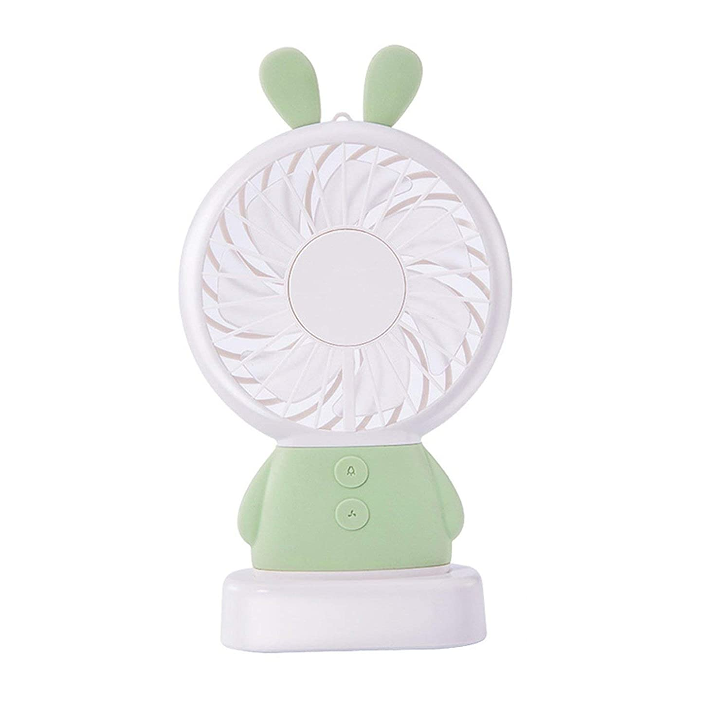 Beauty-inside Mini USB Fan Portable Hand Fan with LED Night Light Battery Operated USB Power Handheld Fan Cooler Electric Laptop Fan for Home,K-F1-Green
