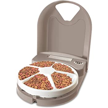 PetSafe, 5 Meal Pet Feeder, Automatic, 5 Day Programing, 5 x 165 g Trays