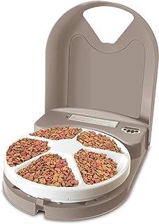 PetSafe 5 Meal Automatic Dog and Cat Feeder, Dispenses Dog Food or Cat Food, Digital Clock