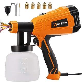 YATTICH Paint Sprayer, 700W High Power HVLP Spray Gun, 5 Copper Nozzles & 3 Patterns,..