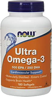 NOW Supplements, Ultra Omega-3, 180 Softgels