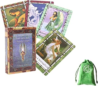 Healing With The Angels 44 st Oracle Card Friends Familjeparti som spelar semester Happy Board Game Presentkort,with bag,T...