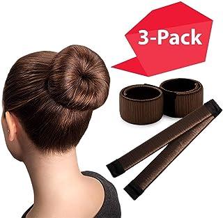 棕色魔法小虫制作工具/3 包/完美*工具/甜甜圈 DIY 造型/发虫形状/芭蕾发子