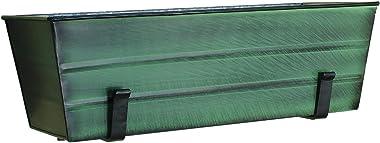 Achla Designs VFB-05-WM Medium Green Flower Wall Window Box with Brackets