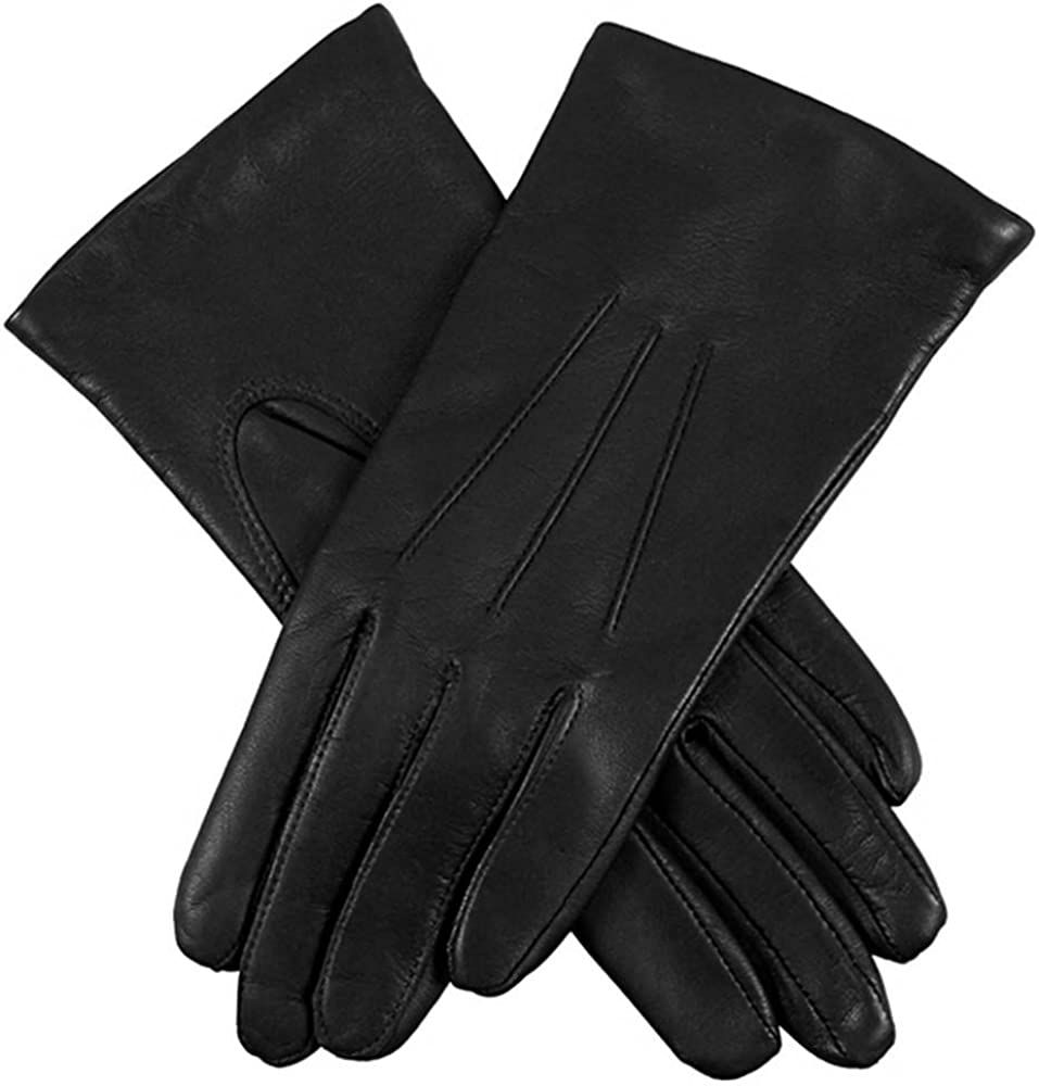 Dents Womens Emma Classic Hairsheep Leather Gloves - Black