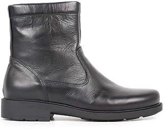 AGORA AI 2021 Bottes pour homme en cuir noir