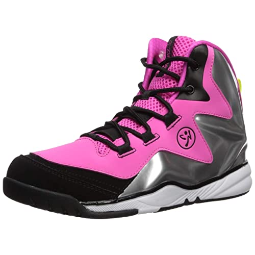Zumba Womens Energy Boom High Top Dance Workout Sneakers with Enhanced Comfort Support