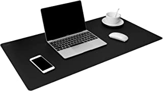 "TOWWI Leather Desk Pad Protector 36""x17"" Desk Blotter Pad, Waterproof Writing Desk Accessories"