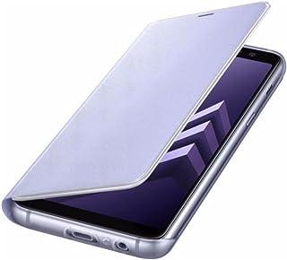 Samsung Galaxy A8 2018 Neon Flip Case- Protective Cover- International (Violet)