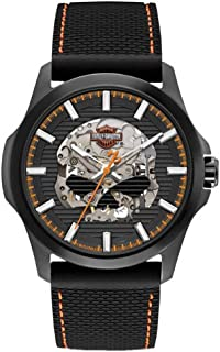 Mens Willie Skull Self-Winding Stainless Steel Case Watch 78A118