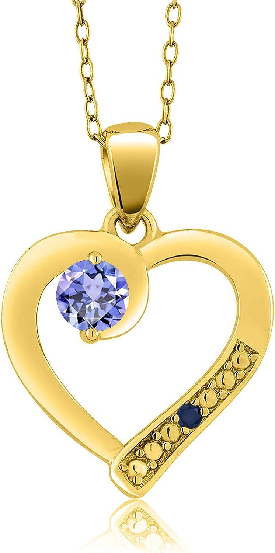 Gem Max 70% OFF Stone King 0.19 Ct Round Ye Tanzanite Blue Sapphire 18K Dedication