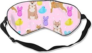 Shiba Inu Spring Easter Marshmallow Treats Dog Bre Sleep Mask Pack Men and Women Or Children Eye Mask No Pressure Eye Masks for Sleep & Travel