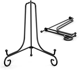 TR-LIFE Plate Stands for Display - 6 Inch Plate Holder Display Stand + Metal Easel Stand for Picture Frame, Decorative Pla...