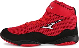 WJFGGXHK Boxing Shoes, High Top Wrestling Shoes Unisex Boxing Boot Lightweight Breathable Climbing Boots for Men Women Chi...