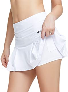 birbyrrly - Falda de tenis plisada con bolsillos cortos para mujer