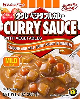 House Foods Curry Sauce with Vegetables, Mild, 7 Ounce Boxes (Pack of 10)