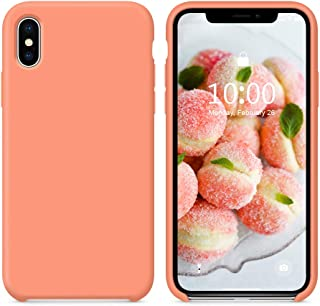 SURPHY Silicone Case for iPhone Xs iPhone X Case, Soft Liquid Silicone Slim Rubber Protective Phone Case Cover (with Soft Microfiber Lining) Compatible with iPhone X iPhone Xs 5.8