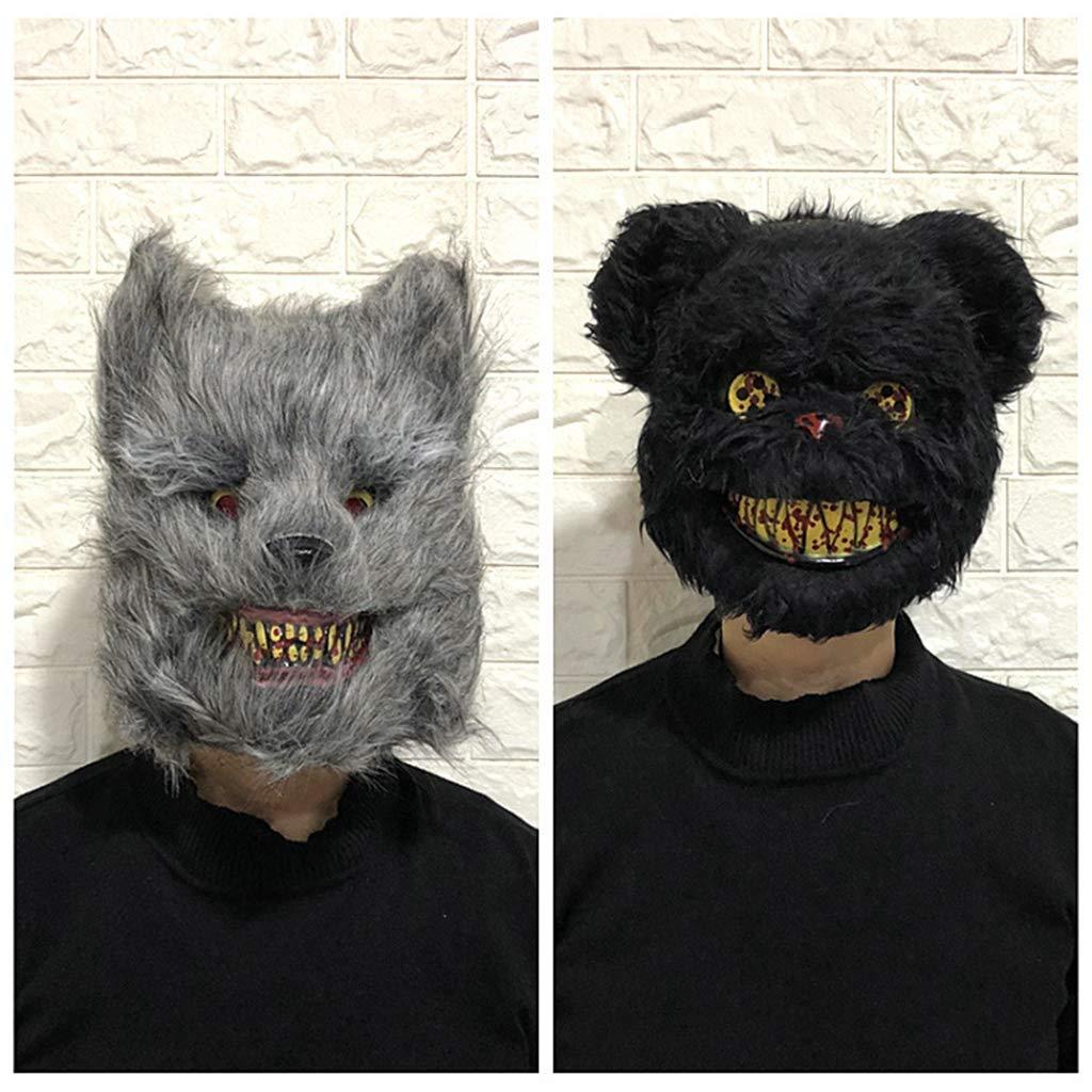 Lhuaguo Máscara Adultos y niños, de Felpa, con diseño de Conejo ...