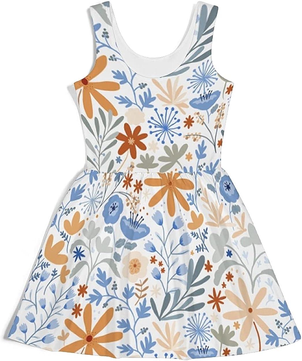 Womens Dress Aesthetic Fashion Skater Dresses Autumn Style Sleeveless Beach Casual Skirt