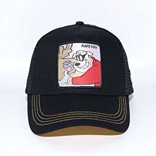 sdssup Anime Cartoon Cap Hat Net Cap ladrón Ajustable