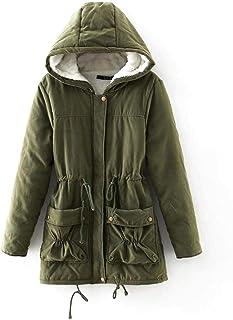 ODlover Loukou Women Fashion Casual Solid Zipper Winter Hooded Coat Outwear Fashion Hoodies