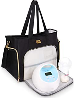 Breast Pump Bag Compatible for Spectra S1,S2,Madela,Lansinoh Electric Breast Pump - Large Capacity & Wide Open - for Mum T...