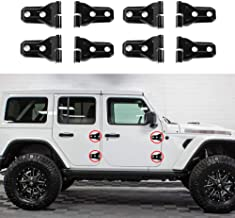 ABS Chrome Tailgate Upper Trim Covers NINTE Rear Window Hinge Cover for Jeep Wrangler JL 2018 2019