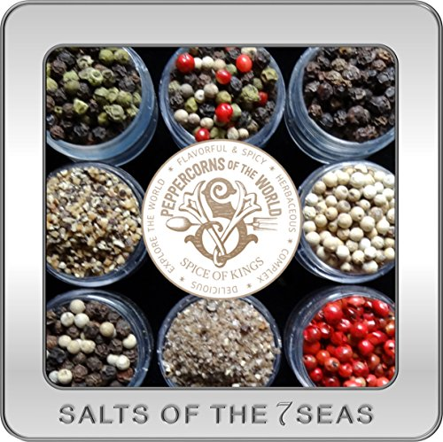 Peppercorns of the World in a Custom Embossed Tin