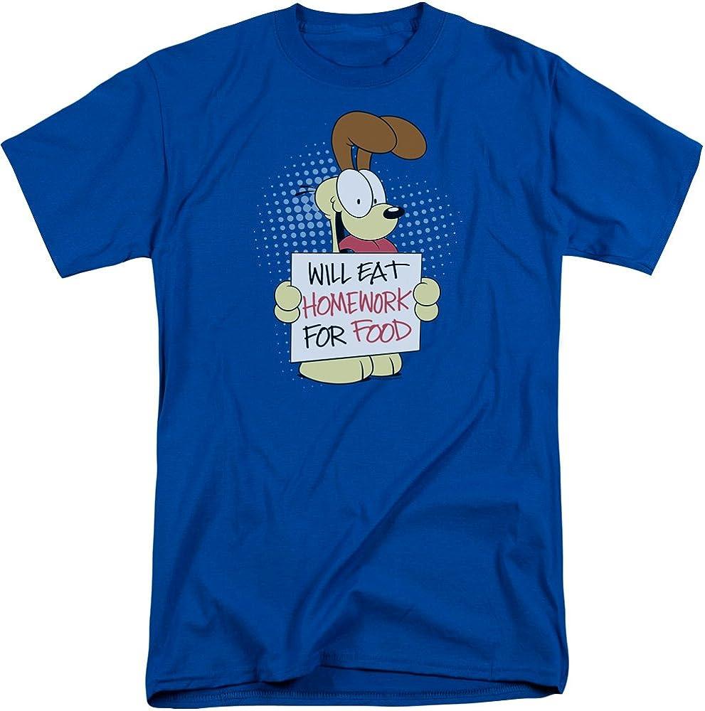 Max 52% OFF Garfield Will Eat Homework Industry No. 1 Tall T-Shirt Adult Fit
