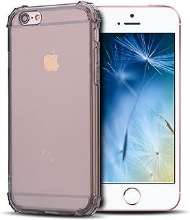 Anfire Carcasa iPhone 6 / 6S Plus, Funda de Transparente y Suave Silicona Case, Flexible Gel TPU Ultra Ligero [Esquinas Reforzadas] Bumper Caja Fundas Claro Blando Caso Cubierta Trasero - Gris