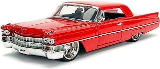 1963 Cadillac Red 1/24 Diecast Model Car by Jada